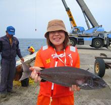 岸壁釣り体験